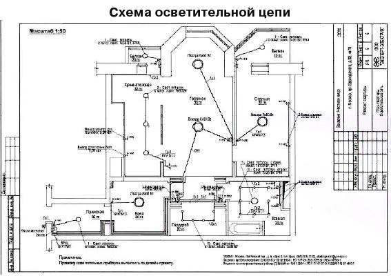схему электроснабжения