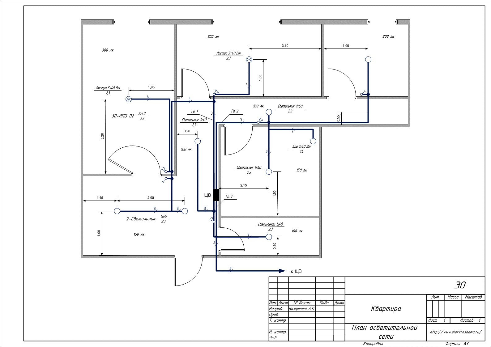 Электрическая схема в визио 2010